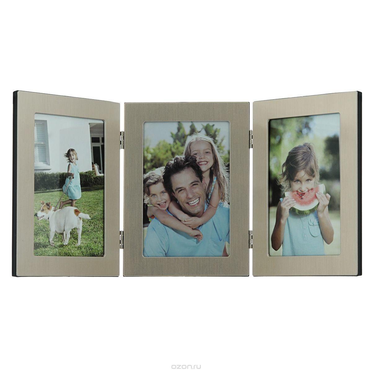 Фоторамка Image Art 6047/3-4G1510F-374Фоторамка Image Art - прекрасный способ красиво оформить ваши фотографии. Изделие рассчитано на 3 фотографии. Фоторамка выполнена из металла и защищена стеклом. Фоторамку можно поставить на стол или подвесить на стену, для чего с задней стороны предусмотрены специальные отверстия. Такая фоторамка поможет сохранить на память самые яркие моменты вашей жизни, а стильный дизайн сделает ее прекрасным дополнением интерьера.