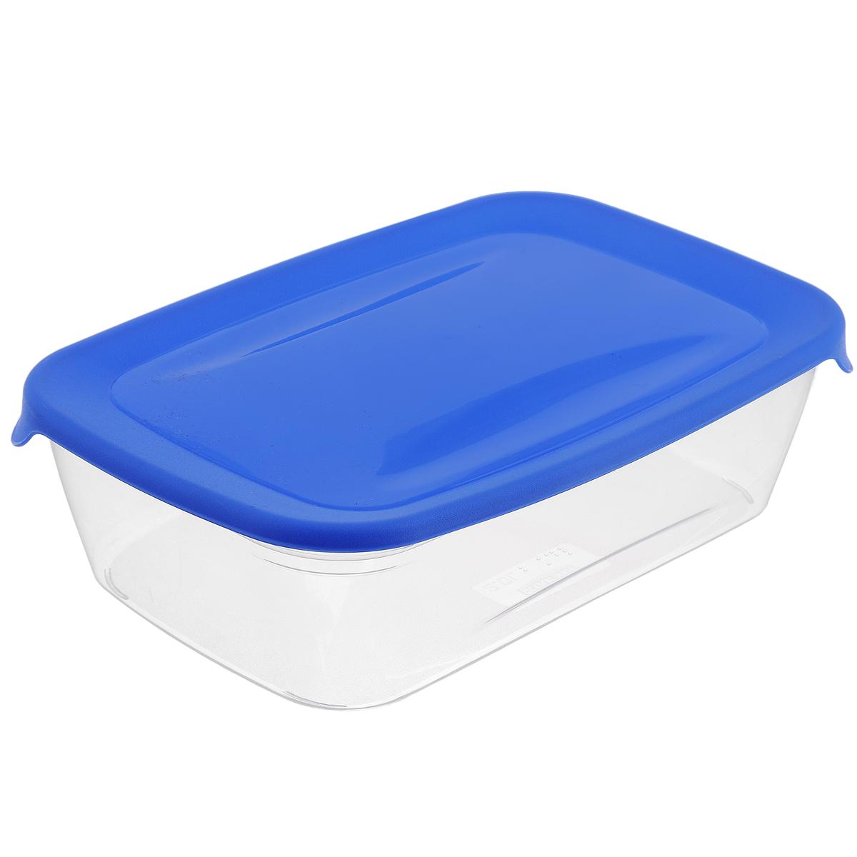 Емкость для заморозки и СВЧ Curver Fresh & Go, цвет: синий, 1 лVT-1520(SR)Прямоугольная емкость для заморозки и СВЧ Curver Fresh & Go изготовлена из высококачественного пищевого пластика (BPA free), который выдерживает температуру от -40°С до +100°С. Стенки емкости прозрачные, а крышка цветная. Она плотно закрывается, дольше сохраняя продукты свежими и вкусными. Емкость удобно брать с собой на работу, учебу, пикник или просто использовать для хранения пищи в холодильнике. Можно использовать в микроволновой печи и для заморозки в морозильной камере. Можно мыть в посудомоечной машине.
