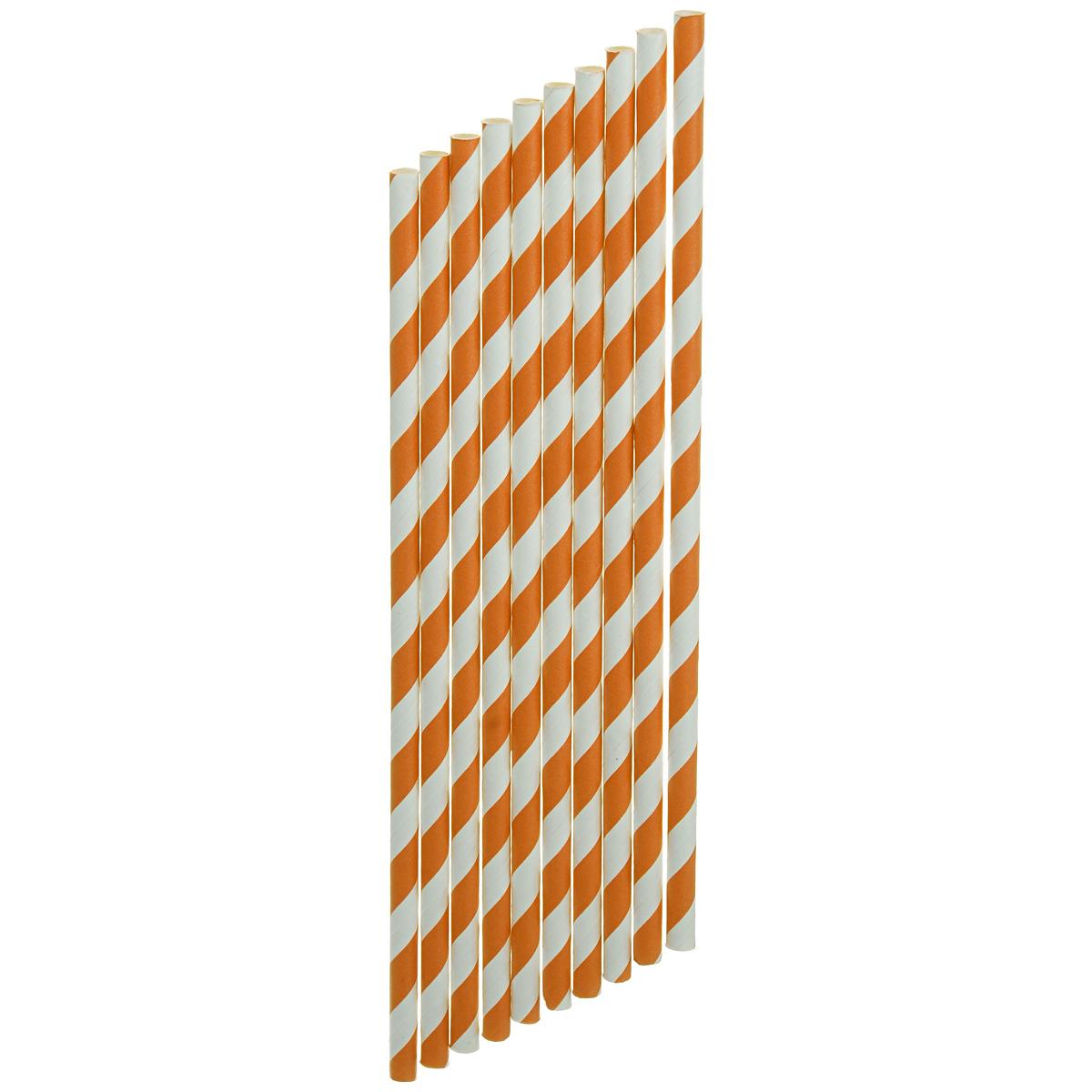 Набор бумажных трубочек Dolce Arti Завиток, цвет: оранжевый, 10 штVT-1520(SR)Набор Dolce Arti Завиток состоит из 10 бумажных трубочек, предназначенных для напитков. Цветные трубочки станут не только эффектным украшением коктейлей, но и ярким штрихом вашего сладкого стола. С набором Dolce Arti Завиток ваш праздник станет по-настоящему красочным!