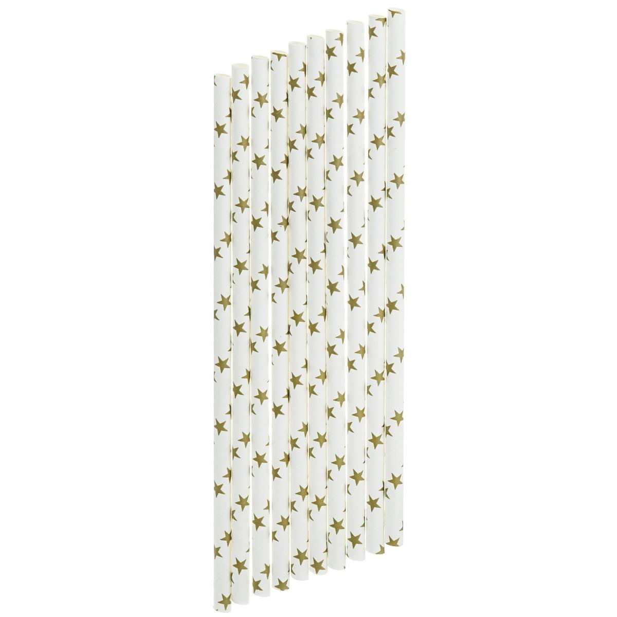 Набор бумажных трубочек Dolce Arti Звезды, цвет: белый, 10 штDA040229Набор Dolce Arti Звезды состоит из 10 бумажных трубочек, предназначенных для напитков. Цветные трубочки станут не только эффектным украшением коктейлей, но и ярким штрихом вашего сладкого стола. С набором Dolce Arti Звезды ваш праздник станет по-настоящему красочным!Длина трубочки: 19,5 см. Диаметр трубочки: 5 мм.