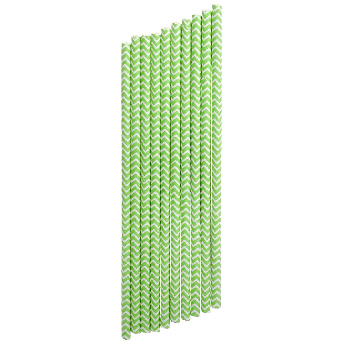Набор бумажных трубочек Dolce Arti Шеврон, цвет: ярко-зеленый, 10 штVT-1520(SR)Набор Dolce Arti Шеврон состоит из 10 бумажных трубочек, предназначенных для напитков. Цветные трубочки станут не только эффектным украшением коктейлей, но и ярким штрихом вашего сладкого стола. С набором Dolce Arti Шеврон ваш праздник станет по-настоящему красочным!Длина трубочки: 19,5 см. Диаметр трубочки: 5 мм.