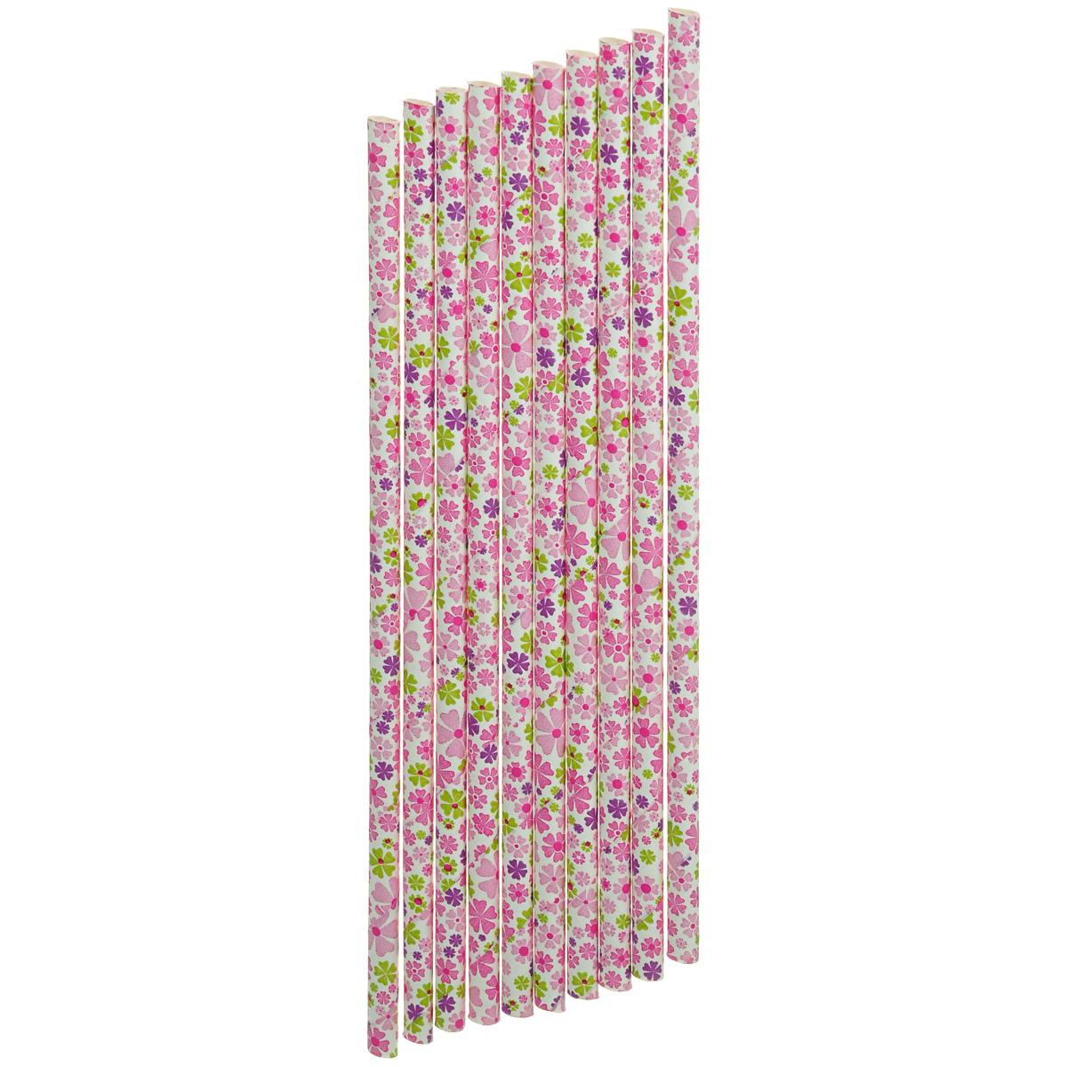 Набор бумажных трубочек Dolce Arti Цветы, цвет: белый, розовый, 10 штVT-1520(SR)Набор Dolce Arti Цветы состоит из 10 бумажных трубочек, предназначенных для напитков. Цветные трубочки станут не только эффектным украшением коктейлей, но и ярким штрихом вашего сладкого стола. С набором Dolce Arti Цветы ваш праздник станет по-настоящему красочным!Длина трубочки: 19,5 см. Диаметр трубочки: 5 мм.