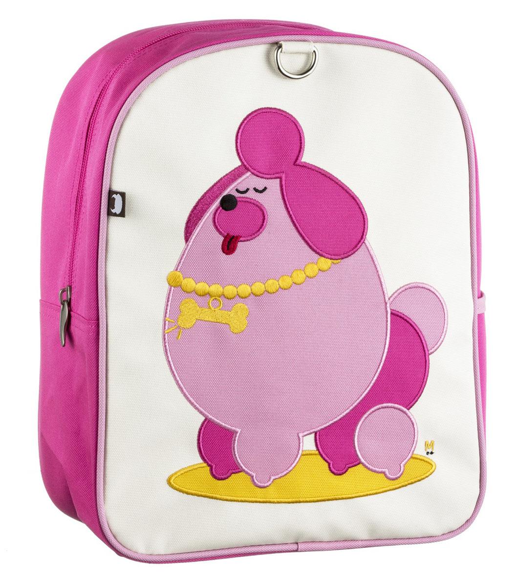 Рюкзак детский Beatrix Little Kid Pocchari-Poodle, цвет: молочный, розовый, желтый37397Рюкзак Beatrix Pocchari-Poodle обязательно привлечет внимание вашего ребенка.Выполнен из прочного и высококачественного материала и оформлен вышитой аппликацией с изображением важного пуделя. Рюкзак состоит из вместительного отделения, закрывающегося на застежку-молнию. Бегунок застежки дополнен металлическим держателем. Внутри отделения находится врезной карман на застежке-молнии. На задней стенке рюкзака имеется нашивка, на которой можно указать данные владельца. Рюкзак с боку имеет один накладной внешний кармана на липучке. Мягкие широкие лямки позволяют легко и быстро отрегулировать рюкзак в соответствии с ростом. Рюкзак оснащен удобной текстильной ручкой для переноски в руке. Идеально подходит для хранения важных и необходимых вещей, которые так необходимы маленькому герою на детской площадке, во время прогулки или на пикнике.