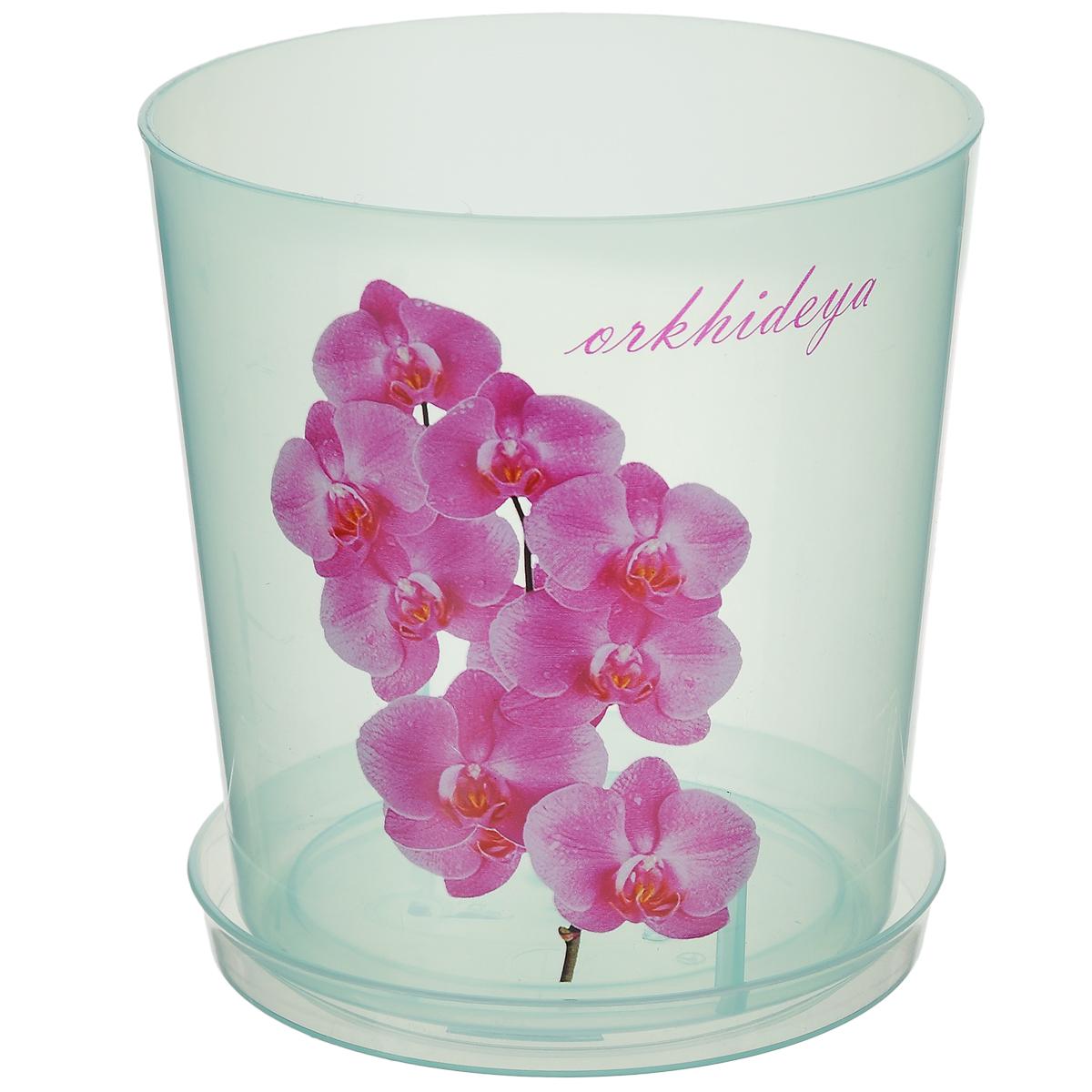Горшок для орхидей Альтернатива, цвет: зеленый, 1,8 лB-0304Горшок для орхидей Альтернатива изготовлен из прочного прозрачного пластика. Внешние стенки оформлены изысканным изображением розовых цветков орхидеи и надписью Orkhideya. Горшок оснащен поддоном. Диаметр горшка (по верхнему краю): 14 см. Высота горшка: 15 см.