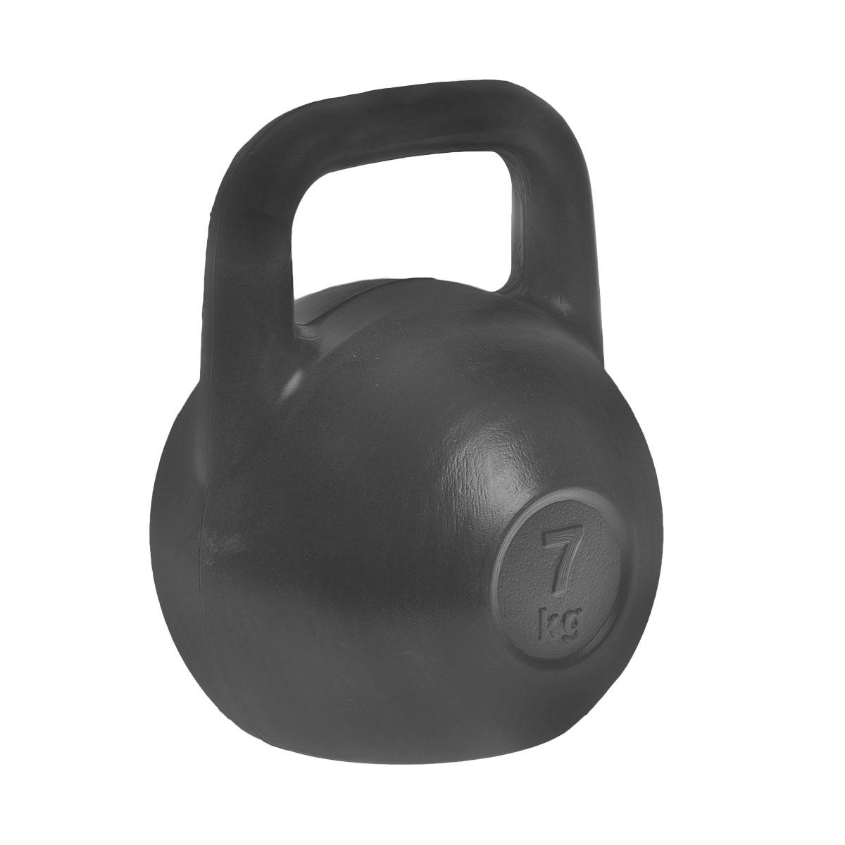 Гиря Евро-Классик, цвет: черный, 7 кгSF 0085Гиря Евро-Классик выполнена из прочного пластика с наполнителем из цемента. Эргономичная рукоятка не скользит в руке, обеспечивая надежный хват. Специальная конструкция гири значительно уменьшает риск получения спортсменом травмы.Гири - это самое простое и самое гениальное спортивное оборудование для развития мышечной массы. Правильно поставленные тренировки с ними позволяют не только нарастить мышечную массу, но и развить повышенную выносливость, укрепляют сердечнососудистую систему и костно-мышечный аппарат.Вес гири: 7 кг.
