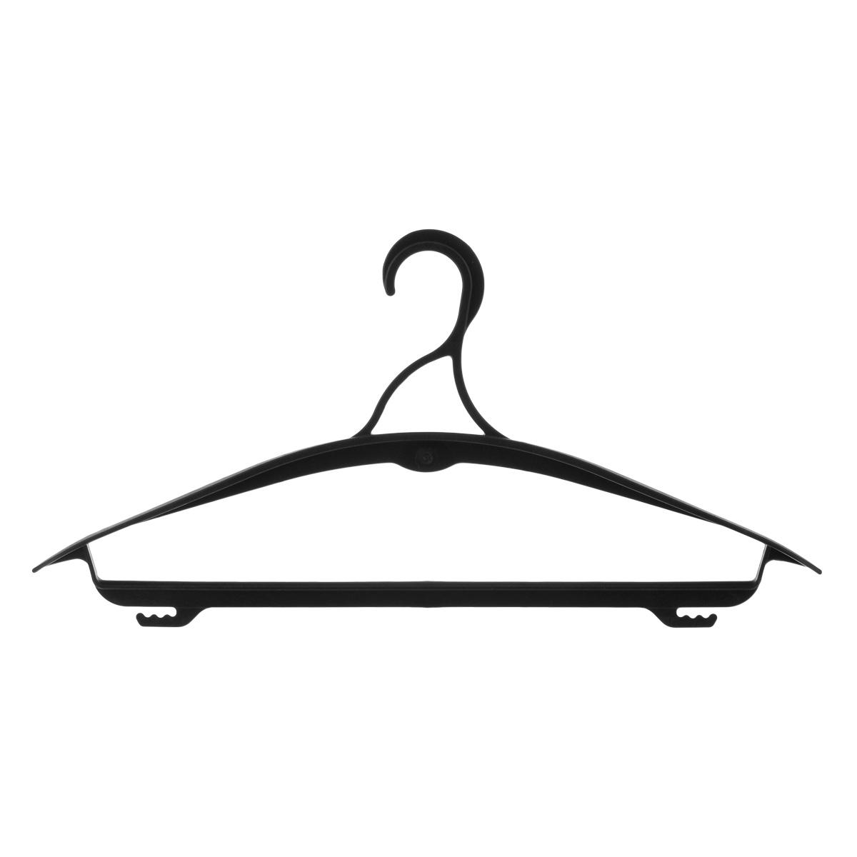 Вешалка для одежды Полимербыт, цвет: черный, размер 48-50. С436С436Вешалка для одежды Полимербыт выполнена из прочного пластика.Изделие оснащено перекладиной и боковыми крючками.Вешалка - это незаменимая вещь для того, чтобы ваша одежда всегда оставалась в хорошем состоянии.Размер элемента: 42,5 см х 21 см х 3,5 см. Размер одежды: 48-50.