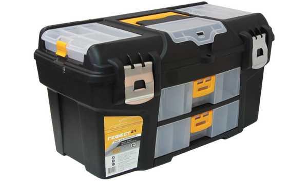 Ящик для инструментов ГЕФЕСТ 21 металл замки (с двумя консол). М 294580621Ящик для инструментов ГЕФЕСТ 21 металл замки (с двумя консол)