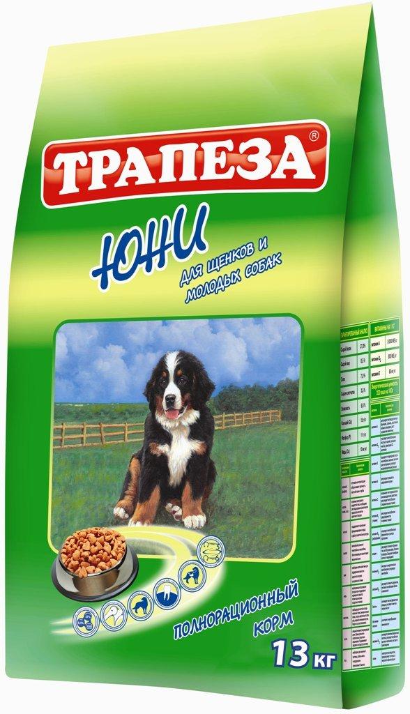 Корм сухой Трапеза Юни для щенков и молодых собак, 13 кг24Рацион Трапеза Юни отвечает всем потребностям растущего организма щенка благодаря тщательно сбалансированному содержанию протеина, жира, клетчатки, витаминов и минералов. Высококачественные жиры, стабилизированные витаминами Е и С, обеспечат организм щенка необходимым количеством энергии для роста и активной жизни. Легкоусвояемый протеин мяса птицы и рыбы способствует гармоничному росту мышечной массы и костной системы молодого организма. Оптимальное содержание в рационе клетчатки улучшит перистальтику формирующейся пищеварительной системы щенка.Корм Трапеза Юни послужит прочной основой здоровья и долголетия вашего питомца.Корма Трапеза снижают риск возникновения аллергических реакций благодаря отсутствию искусственных красителей и антиоксидантным свойствам витамина Е - натурального консерванта. Характеристики:Состав:говяжий жир, куриный жир, рыбий жир, телятина, мясо бройлерных кур, рыба, экстракт морских водорослей, ливер, сердце, печень, льняное и растительное масло, кукурузная мука, пивные дрожжи, пшеничное зерно.Пищевая ценность:сырой белок 27%, сырой жир 8,5%, влажность 9,5%, зола 7%, сырая клетчатка 3,5%, витамин А 8000 МЕ/кг, витамин Д 800 МЕ/кг, витамин Е 80 мг/кг, фосфор 11 г/кг, кальций 15 г/кг, медь 10 мг/кг. Энергетическая ценность на 100 грамм:320 ккал. Вес:13 кг.
