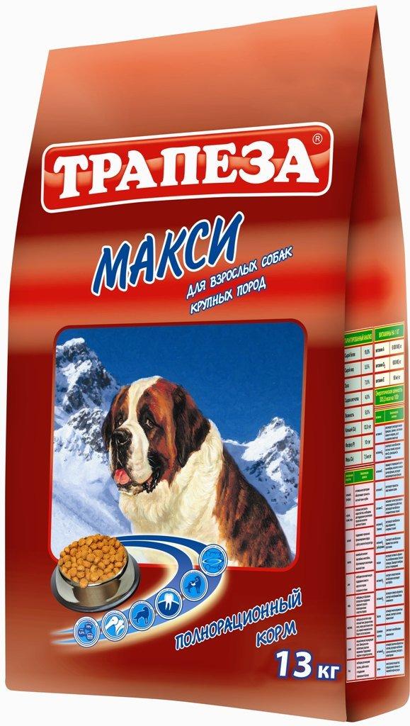 Корм сухой Трапеза Макси, для собак крупных пород, 13 кг24Рацион для собакТрапеза Макси создан по специальному рецепту, который идеально соответствует питательным потребностям собаки крупной породы. Корм содержит достаточное количество калорий в одном рационе для кормления. Гранулыкрупнее, чем обычно. Они имеют специально разработанную текстуру, что способствует более тщательному пережевывании и уменьшают скорость потребления корма. Антиоксиданты позволяют усилить иммунно-защитные механизмы организма собаки и замедляют процесс старения.Сухой кормТрапеза Макси помогает поддерживать собаку в прекрасной форме и заботиться обо всех важнейших функциях организма крупной собаки. Корма Трапеза снижают риск возникновения аллергических реакций благодаря отсутствию искусственных красителей и антиоксидантным свойствам витамина Е - натурального консерванта. Характеристики:Состав:говяжий жир, куриный жир, рыбий жир, телятина, мясо домашней птицы, экстракт морских водорослей, ливер, сердце, печень, льняное и растительное масло, кукурузная мука, пивные дрожжи, пшеничное зерно.Пищевая ценность:сырой белок 19%, сырой жир 5,5%, влажность 9,5%, зола 7 %, сырая клетчатка 4%, витамин А 6000 МЕ/кг, витамин Д 600 МЕ/кг, витамин Е 60 мг/кг, фосфор 10 г/кг, кальций 12 г/кг, медь 7,5 мг/кг. Энергетическая ценность на 100 грамм:305,8 ккал. Вес:13 кг. Уважаемые клиенты!Обращаем ваше внимание на возможные изменения в дизайне упаковки.