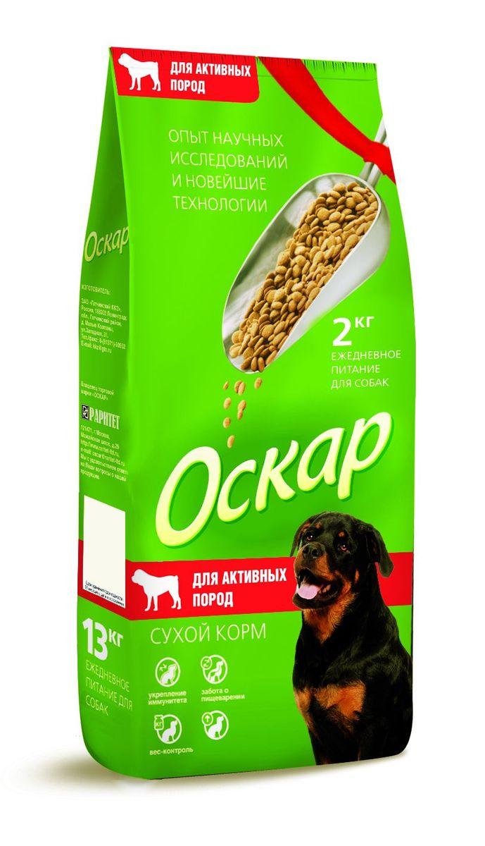 Корм сухой Оскар для собак активных пород, 2 кг0120710Сухой корм Оскар является вкусным и полезным питанием для собак активных пород. Благодаря специально подобранным компонентам, корм Оскар: укрепляет и поддерживает иммунную систему;обеспечивает правильное пищеварение;способствует росту здоровой, густой и блестящей шерсти;укрепляет костную систему и суставы;помогает поддерживать оптимальный вес собаки;уменьшает образование зубного камня. Корм Оскар изготавливается из натуральных продуктов высшего качества, не содержит красителей и вкусовых добавок, сочетает в себе все необходимые для здоровья и нормального развития вашего любимца витамины и минеральные вещества.Характеристики: Состав: злаки, мясо и продукты животного происхождения, экстракт белка растительного происхождения, пшеничные отруби, подсолнечное масло, минеральные добавки, пульпа сахарной свеклы (жом), витамины, антиоксидант.Пищевая ценность: сырой протеин - 25%, сырой жир - 11%, сырая клетчатка - 5%, сырая зола - 7%, влажность - 10%, кальций - не более 1,5%, фосфор - не более 1,1%, витамин А - 5000 МЕ/кг, витамин Д - 500 МЕ/кг, витамин Е - 50 мг/кг.Энергетическая ценность на 100 г: 345 ккал.Вес: 2 кг.