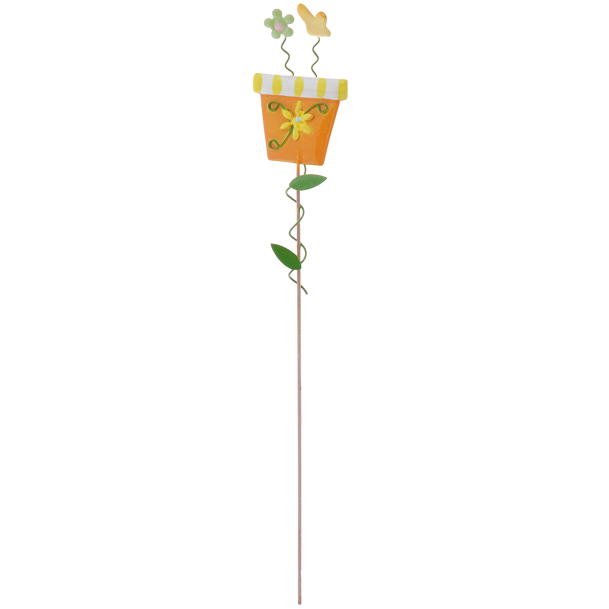 Украшение на ножке Village People Солнечная клумба, цвет: оранжевый, высота 30 смZ-0307Украшение на ножке Village People Солнечная клумба поможет вам дополнить экстерьер красивой и яркой деталью. Такое украшение очень просто вставляется в землю с помощью длинной ножки, оно отлично переносит любые погодные условия и прослужит долгое время. Идеально подходит для декорирования садового участка, грядок, клумб, домашних цветов в горшках, а также для поддержки и правильного роста декоративных растений.Размер декоративного элемента: 4,5 см х 7,5 см. Высота: 30 см.