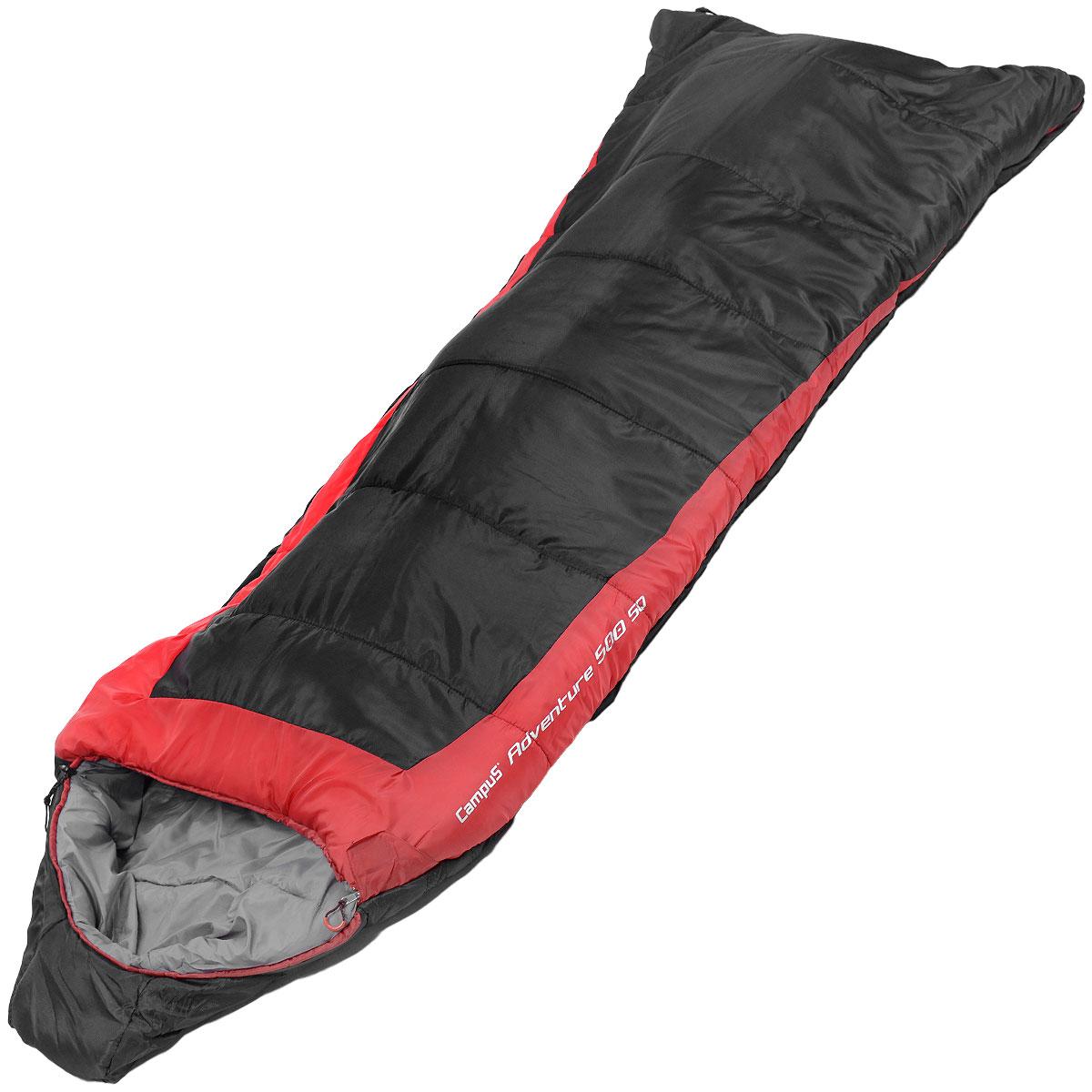 Спальный мешок Campus Adventure 500SQ, правосторонняя молния, 240 см х 95 см10701025Данная модель предусмотрена для холодного времени года, так как рассчитана на температуру до -17° C. Слой синтетического утеплителя контролирует терморегуляцию внутри спального мешка, поддерживая в нем необходимую температуру. Коконообразная анатомическая форма обеспечивает плотное прилегание спального мешка, в то же время внутри него предусмотрено достаточно свободного места для комфортного сна. В сложенном виде мешок занимает очень мало места и весит совсем не много.Тип спального мешка: одеяло с капюшоном.Утеплитель: 6D BLOCK, HOLLOWFIBER 500 г/м2.Внешний материал: нейлон.Внутренний материал: полиэстер.