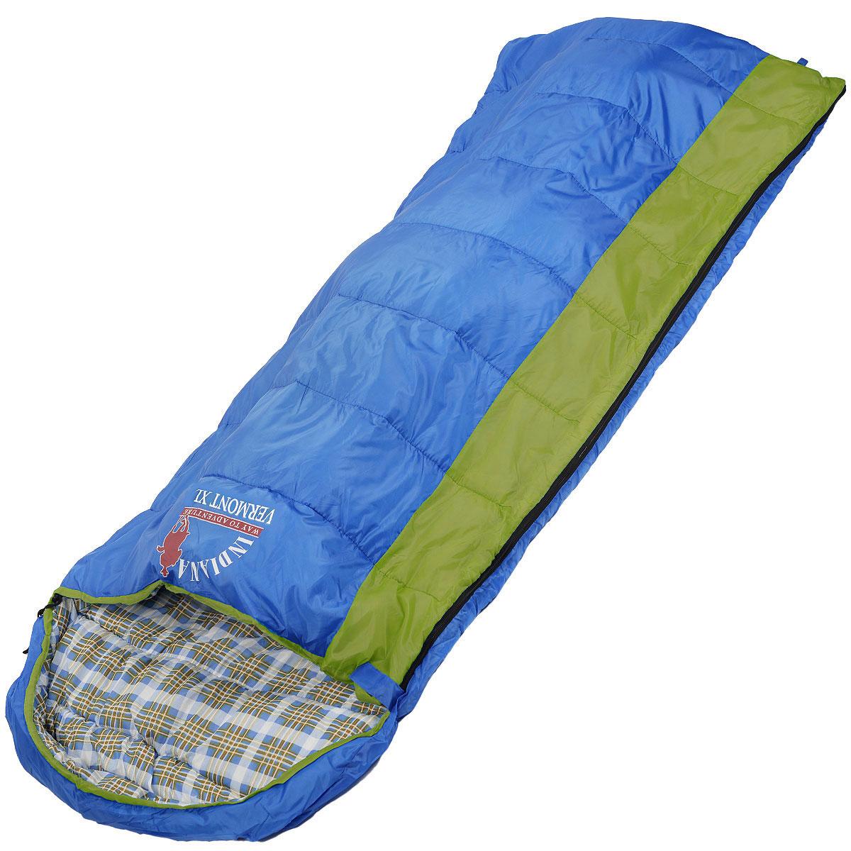 Мешок спальный Indiana Vermont Xl, правосторонняя молния, 220 х 95 см360700036Самый популярный трехсезонный спальник-одеяло с подголовником, предназначен для комфортного сна даже в холодное время года. Спальный мешок Indiana Vermont Xl не только убережет вас от холода, но и, благодаря увеличенным размерам, обеспечит максимально комфортные условия для вашего сна. Разъемная молния позволяет состыковать два спальника в один большой.