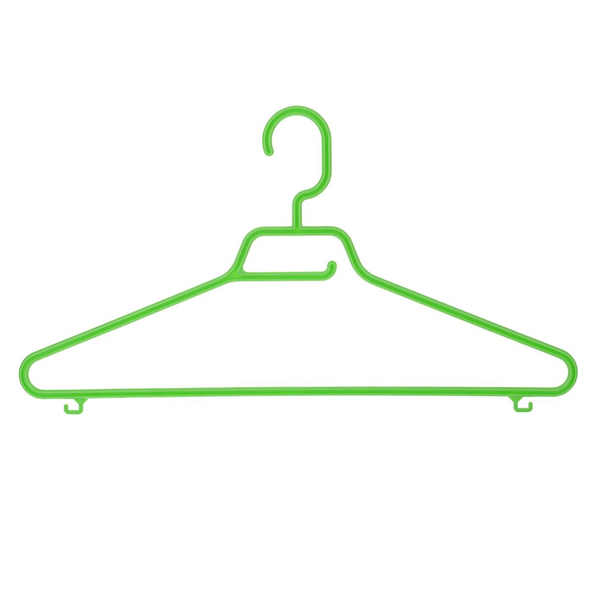 Вешалка М-пластика Лайт, цвет: салатовыйS03301004Вешалка М-пластика Лайт выполнена из прочного пластика.Изделие оснащено перекладиной и тремя крючками.Вешалка - это незаменимая вещь для того, чтобы ваша одежда всегда оставалась в хорошем состоянии.