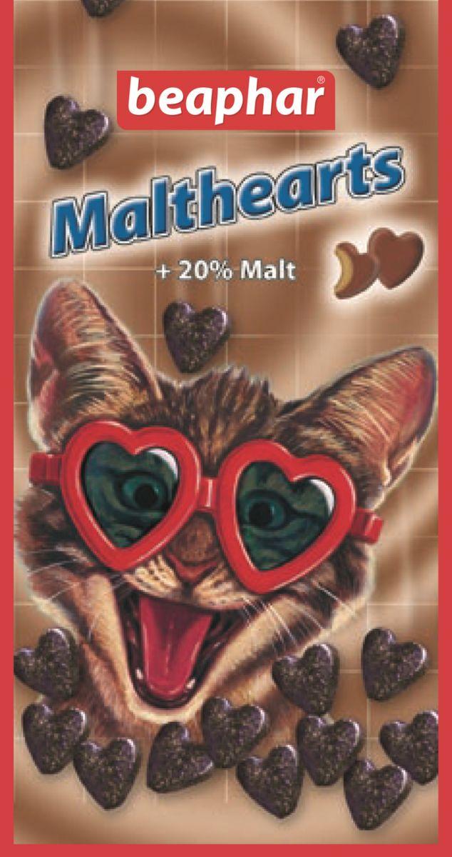 Лакомство для кошек Beaphar Malthearts, для вывода шерсти из желудка, 150 шт13168Средство для выведения шерсти из желудка Beaphar Malthearts - это очень вкусное лакомство с Mальт-пастой в форме сердечек для кошек и котят. Высококачественная Mальт-паста помогает естественно выводить проглоченную шерсть из пищеварительного тракта, предупреждает образование волосяных комков в желудке животного. Кошки и котята, вылизываясь, заглатывают шерсть, которая накапливается в желудочно-кишечном тракте и затрудняет работу желудка. Регулярное употребление лакомства поможет решить эту проблему и избежать рецидива. Состав: молоко и молочные продукты, продукты растительного происхождения (экстракт солода 20%), сахара, минеральные вещества, моллюски и ракообразные (мин. 4% креветки), дрожжи, мясо и продукты животного происхождения, масла и жиры. Анализ: протеин 8.2%, жиры 2.5%, клетчатка 5.4%, зола 10.2%, влага 4.1%, кальций 1.3%, фосфор 0.9%, натрий 0.2%, калий 0.03%.Рекомендуемая дозировка: 5-10 штук в день. Количество в упаковке: 150 шт. Товар сертифицирован.