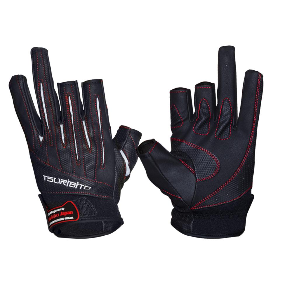Перчатки рыболовные Tsuribito LFG-110, цвет: черный, белый810Стильные и практичные рыболовные перчатки универсального размера Tsuribito LFG-110, изготовленные из искусственной кожи и лайкры, незаменимы в промозглую и ветреную погоду. Эргономичный крой перчаток и использование современных материалов позволило добиться их великолепной посадки на руке. Они прекрасно защищают от переохлаждения и обветривания, продлевая время нахождения на рыбалке в холодный и сырой день. Самые легкие перчатки Tsuribito LFG-110 рассчитаны на относительно высокую температуру. Комфортные и удобные при носке, эти перчатки являются многофункциональными и будут востребованы не только во время рыбной ловли.