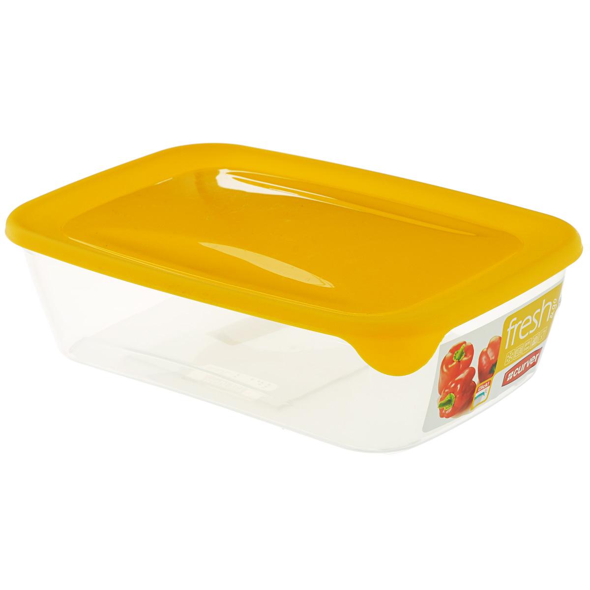 Емкость для заморозки и СВЧ Curver Fresh & Go, цвет: желтый, 2 л21395599Прямоугольная емкость для заморозки и СВЧ Curver Fresh & Go изготовлена из высококачественного пищевого пластика (BPA free), который выдерживает температуру от -40°С до +100°С. Стенки емкости прозрачные, а крышка цветная. Она плотно закрывается, дольше сохраняя продукты свежими и вкусными. Емкость удобно брать с собой на работу, учебу, пикник или просто использовать для хранения пищи в холодильнике. Можно использовать в микроволновой печи и для заморозки в морозильной камере. Можно мыть в посудомоечной машине.