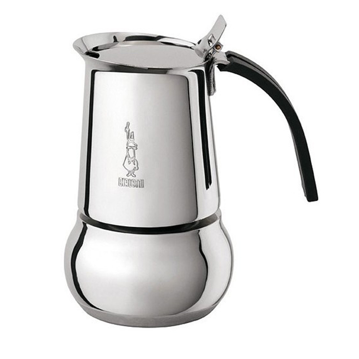 Кофеварка гейзерная Bialetti Kitty, на 6 порций, 360 млVT-1520(SR)Изящная гейзерная кофеварка из нержавеющей стали Bialetti Kitty - это элегантная кофеварка с мягкими, приятными линиями, способными украсить собой даже праздничный стол. Имеется предохранительный клапан давления. Ручка изготовлена из не обжигающего термостойкого материала, кнопка - из стали.Подходит для приготовления кофе на плите или других нагревающих поверхностях. Можно использовать на газу, электрической плите и стеклокерамике. Можно использовать на индукционных плитах.Не мыть в посудомоечной машине.