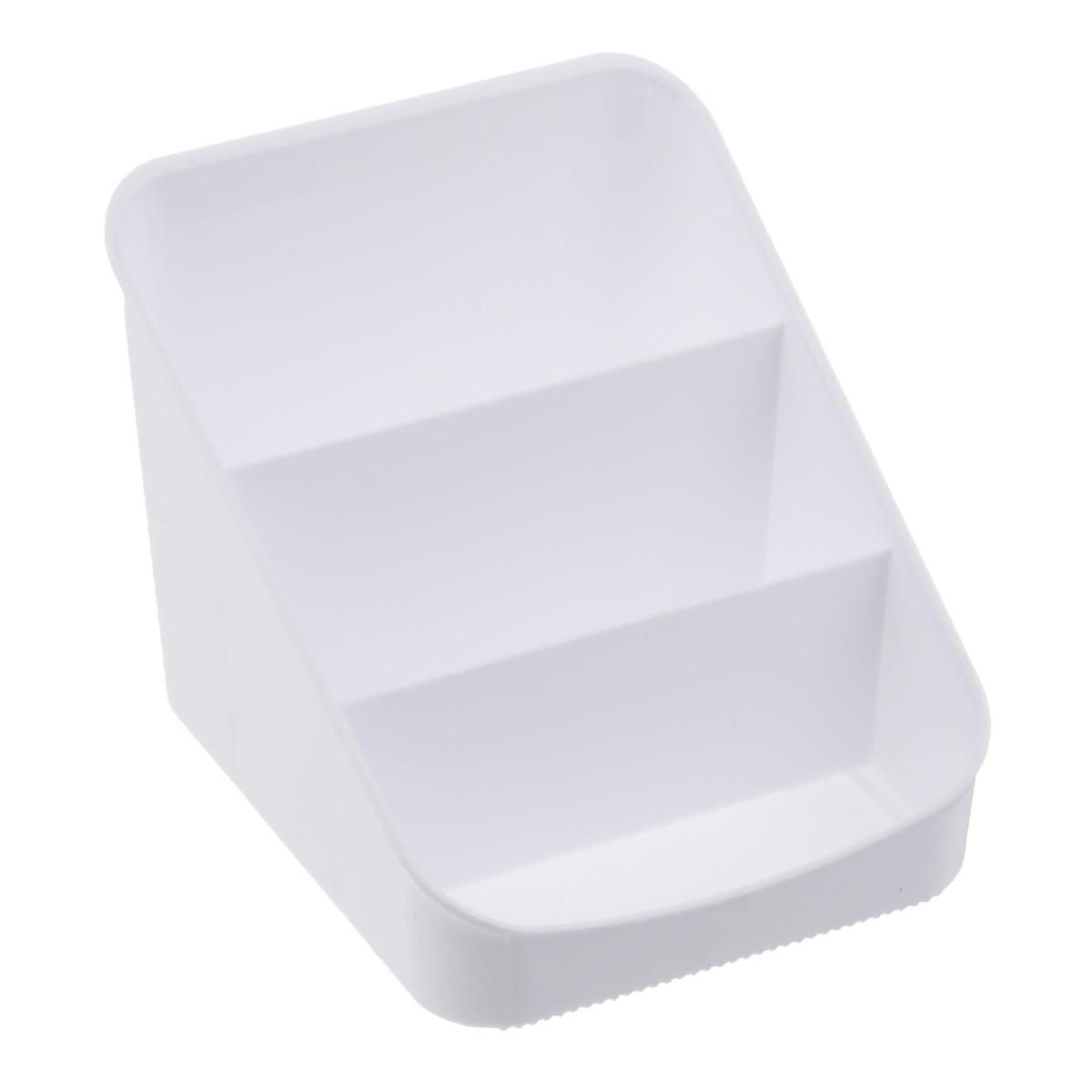 Органайзер для специй Berossi Alt, цвет: белый4630003364517Органайзер для специй Alt выполнен из прочного пластика и разделен на 3 секции. С ним все ваши специи всегда будут на своем месте.Благодаря своим небольшим размерам изделие удобно впишется в стандартный кухонный шкаф, или разместится на столе. В таком органайзере также удобно хранить канцелярские принадлежности. Замечательный органайзер поможет навести на кухне полный порядок и расставить все по местам.