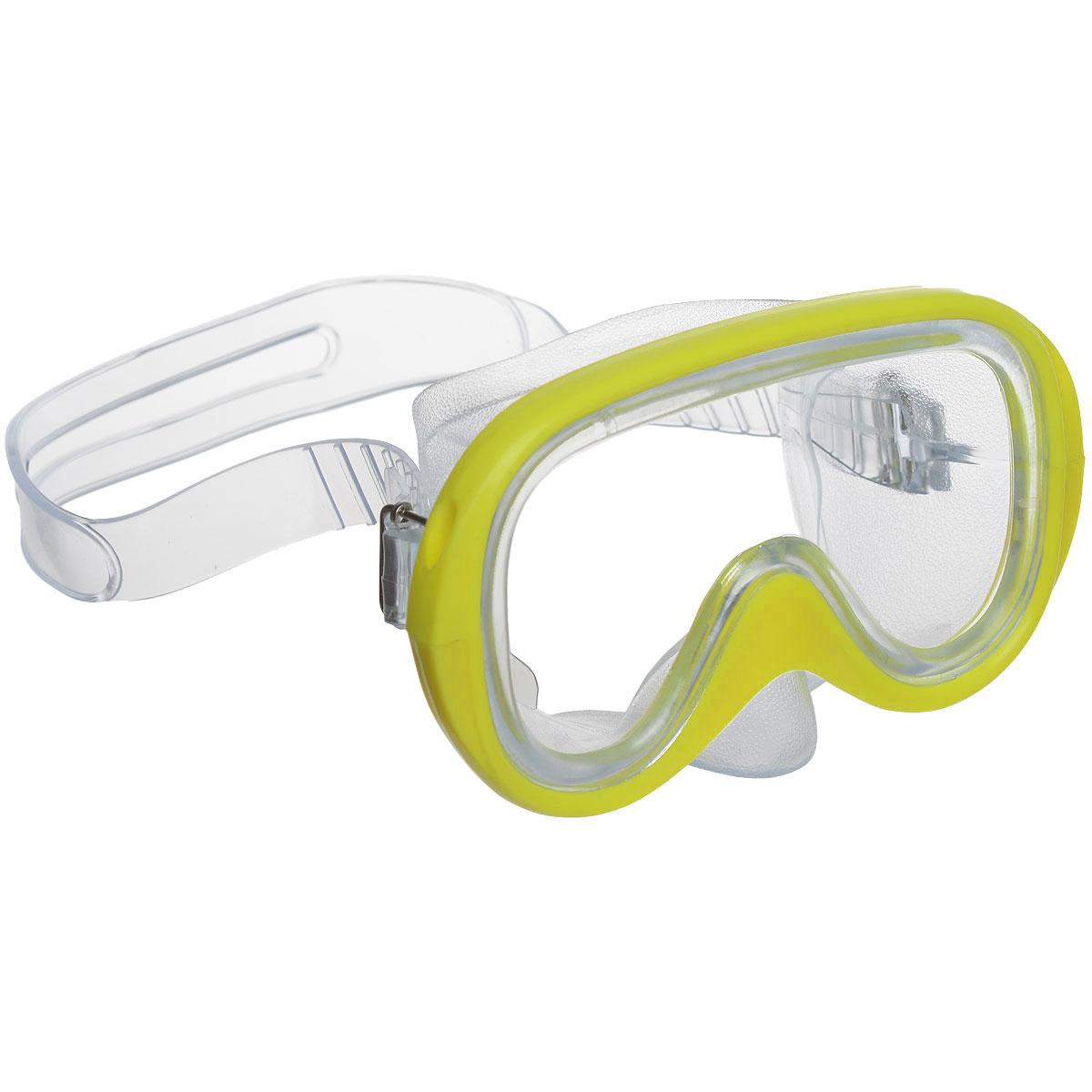 """Стильная маска Fashy """"Menorca"""" отлично подойдет для подводного плавания. Она хорошо прилегает к лицу и обеспечивает превосходный обзор. Мягкий ремешок раздвоен в середине для более надежной фиксации маски на голове и регулируется с обеих сторон."""