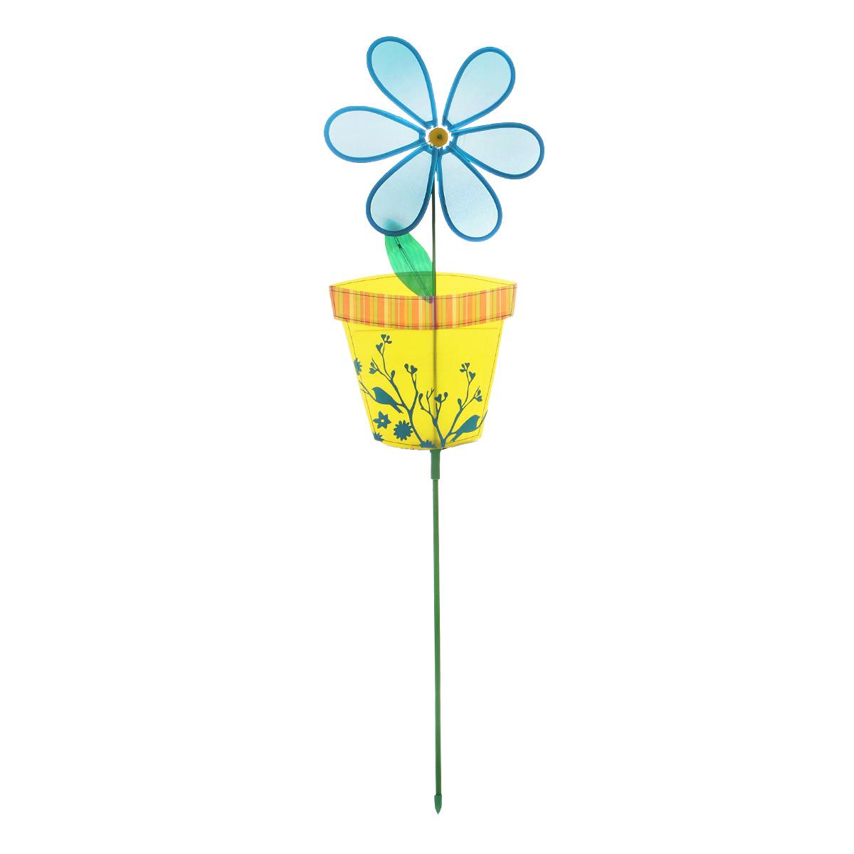 Фигура-вертушка декоративнаяVillage People Цветок в горшочке, цвет: синий, высота 114 см. 66924Z-0307Декоративная фигура-вертушка Village People Цветок в горшочке - это не только любимая всеми игрушка, но и замечательный способ отпугнуть птиц с грядок. А за счёт яркого дизайна ландшафт сада станет еще привлекательнее. Диаметр цветка: 28 см. Размер фигуры-вертушки: 114 см х 28 см х 2,5 см