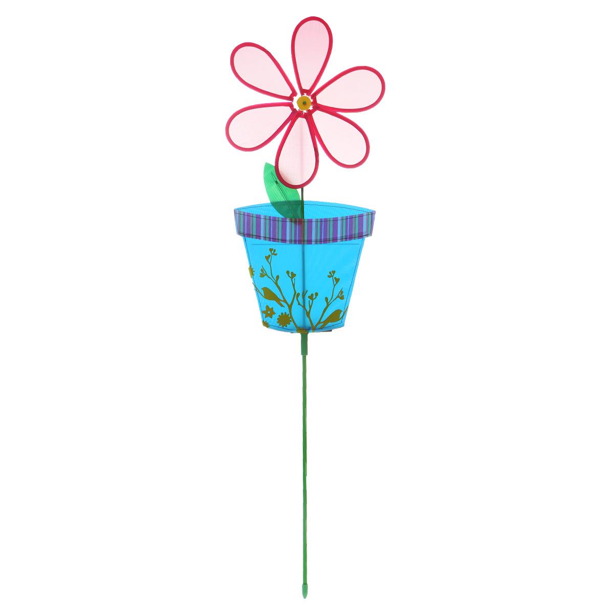Фигура-вертушка декоративнаяVillage People Цветок в горшочке, цвет: красный, высота 114 см. 66924Z-0307Декоративная фигура-вертушка Village People Цветок в горшочке - это не только любимая всеми игрушка, но и замечательный способ отпугнуть птиц с грядок. А за счёт яркого дизайна ландшафт сада станет еще привлекательнее. Диаметр цветка: 28 см. Размер фигуры-вертушки: 114 см х 28 см х 2,5 см