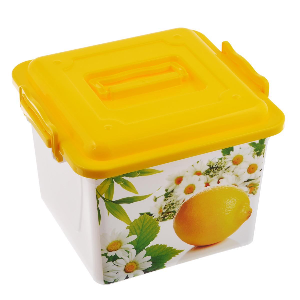 Контейнер универсальный Летнее настроение, цвет: белый, 8,5 л3611_кремовыйУниверсальный контейнер Летнее настроение прекрасно подойдет для хранения небольших игрушек, инструментов, швейных принадлежностей и многого другого. Он изготовлен из высококачественного пластика.. Контейнер закрывается крышкой. Удобный и легкий контейнер позволит вам хранить вещи в полном порядке, а благодаря современному дизайну он впишется в любой интерьер. Контейнер имеет компактные размеры, поэтому не занимает много места.