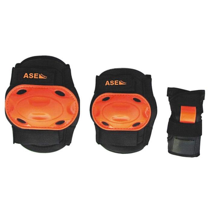 Защита роликовая  ASE-609 , цвет: оранжевый, черный. Размер L - Защита
