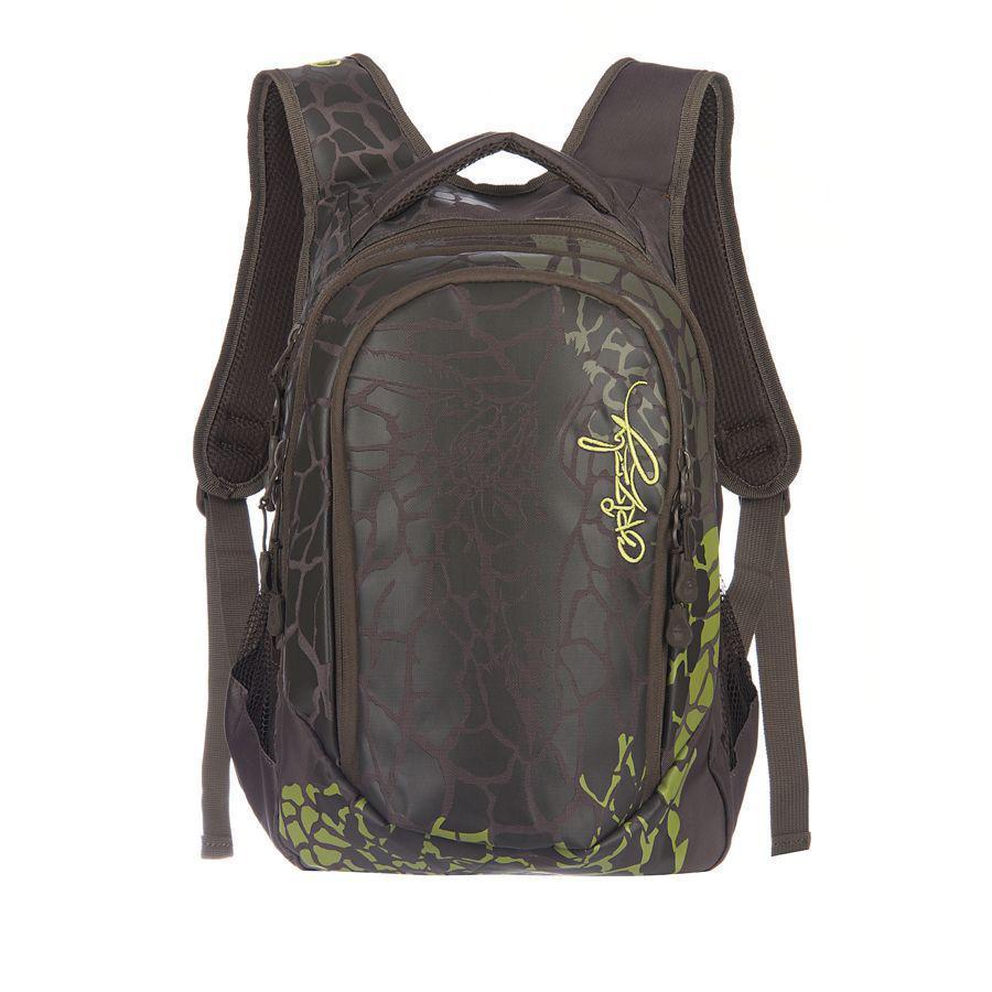 Рюкзак городской Grizzly, цвет: хаки, 22 л. RD-534-1/3A-B86-05-CРюкзак молодежный женский с двумя отделениями, внутренними карманами, укрепленными лямками и жесткой спинкой, с ручкой для переноски