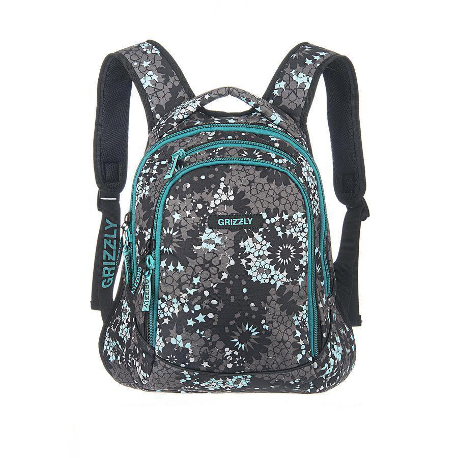 Рюкзак городской Grizzly, цвет: серый, бирюзовый, 22 л. RD-524-1/1MABLSEH10001Молодежный рюкзак с двумя отделениями на молнии, с внутренними карманами,укрепленными лямками,дном и спинкой.Все швы рюкзака отстрочены контрастными прочными нитками.