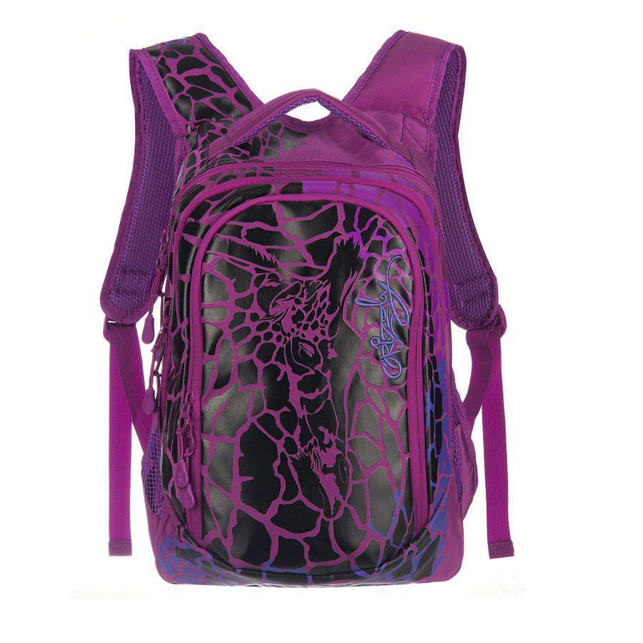 Рюкзак городской Grizzly, цвет: лиловый. RD-534-1MW-1462-01-SR серебристыйРюкзак молодежный женский с двумя отделениями, внутренними карманами, укрепленными лямками и жесткой спинкой, с ручкой для переноски