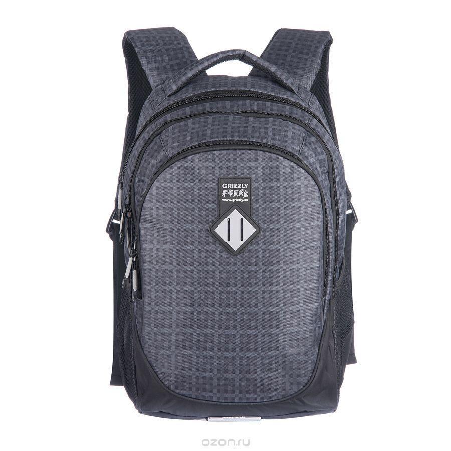 Рюкзак городской Grizzly, цвет: серый, 20 л. RU-500-1/3NRk_20662Рюкзак молодежный с тремя отделениями, боковыми карманами, внутренними карманами на молнии, жесткой рельефной спинкой, анатомическими лямками