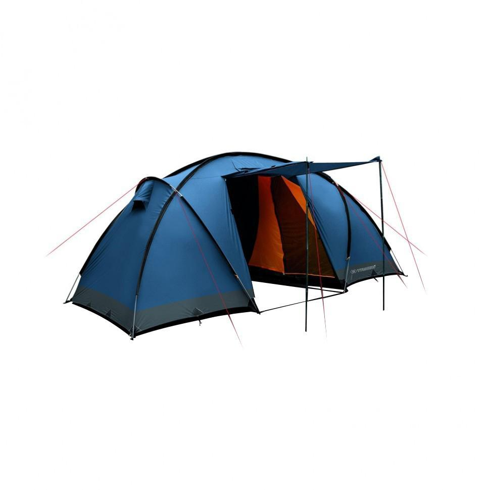 Палатка четырехместная Trimm COMFORT II 4, цвет: синий67742Палатка Trimm COMFORT II – вместительная туристическая палатка серии Family с внешним тентом синего цвета. Прекрасный выбор для большой компании, любящей активный отдых на природе и обожающей длительные походы, рыбную ловлю в любое время, кроме зимы. Палатка COMFORT II от чешского производителя Trimm относится к серии Family. Изделия этой серии удовлетворят самым высоким требованиям к комфорту и безопасности во время пребывания на природе, даже если отдых планируется длительным. Отличительная черта данной модели – две «спальни», уникальная система крепления каркаса из 4 дуг и наличие большого тамбура, а также возможность создания навеса с помощью подпорки входного элемента палатки. В каждой спальне могут с комфортом разместиться по 2 человека, если же немного потесниться, то можно найти место и для третьего. Таким образом, общее число мест в палатке составляет 4, но можно увеличить это количество и до 6.