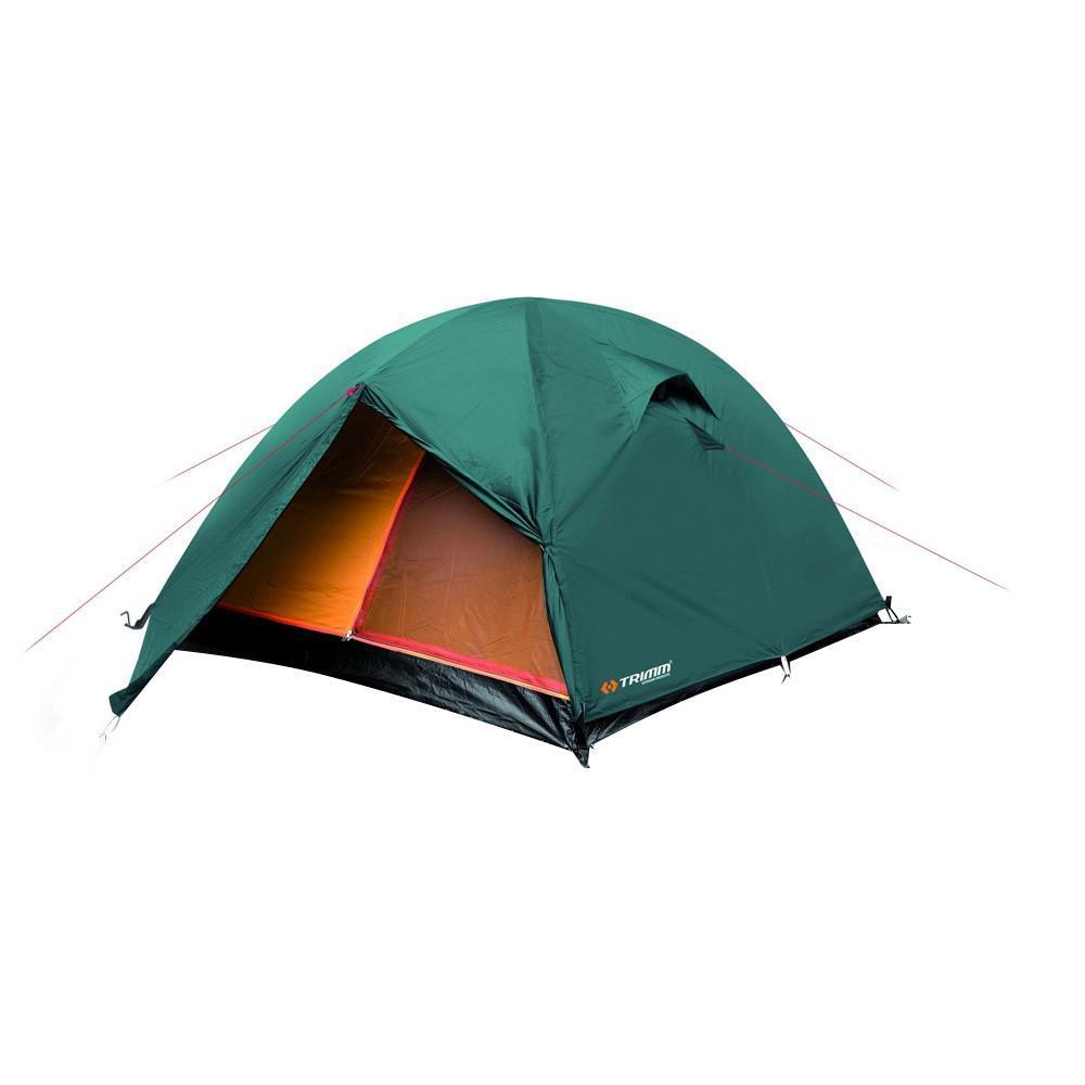 Палатка трехместная Trimm OREGON 3, цвет: зеленыйR36950Палатка Trimm OREGON – модель туристической палатки средних размеров (из серии Outdoor), с внешним тентом зеленого цвета. Она прекрасно подойдет для сезона весна/осень. Это изделие вызовет интерес туристов, а также всех любителей активного отдыха. Внешний тент из 100% полиэстера, водонепроницаемостью 3000 мм водного столба. Дно на основе армированного полиэтилена водонепроницаемостью 3000 мм водного столба. Палатка OREGON от чешского производителя Trimm относится к бюджетной серии Outdoor. Отличительная черта данной модели – трехстержневой каркас, благодаря которому она устойчива к порывам ветра. Внутри палатки комфортно разместятся 3 человека, но можно найти место и для четвертого.