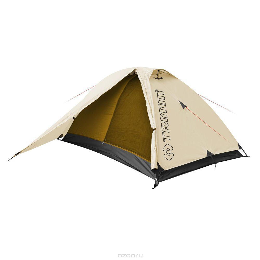 Палатка двухместная Trimm COMPACT 2, цвет: песочный360400001Trimm COMPACT – небольшая туристическая палатки серии Trekking с внешним тентом песочного цвета. Данная модель будет интересна, прежде всего, людям, ведущим активный образ жизни. Палатка Trimm COMPACT относится к серии Trekking, отличительной чертой которой является использование патентованной конструкции Durawrap, обеспечивающей достаточную жесткость каркаса. Данная модель рассчитана на 2-3 человека.
