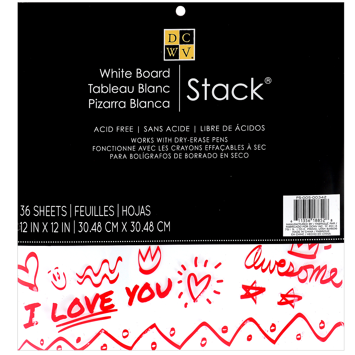 Набор бумаги для скрапбукинга White Board Stack, 36 листовC0042415Набор глянцевой бумаги White Board Stack позволит создавать всевозможные аппликации и поделки. Набор включает бумагу следующих цветов: белый, бежевый. Создание поделок из цветной бумаги поможет ребенку развить творческие способности, кроме того, это увлекательный досуг для детей и взрослых.Скрапбукинг - это хобби, которое способно приносить массу приятных эмоций не только человеку, который занимается скрапбукингом, но и его близким, друзьям, родным. Это невероятно увлекательное занятие, которое поможет вам сохранить наиболее памятные и яркие моменты вашей жизни для вас и даже ваших потомков. В набор входит 36 листов белого цвета.Размер листа: 30,4 см х 30,4 см.