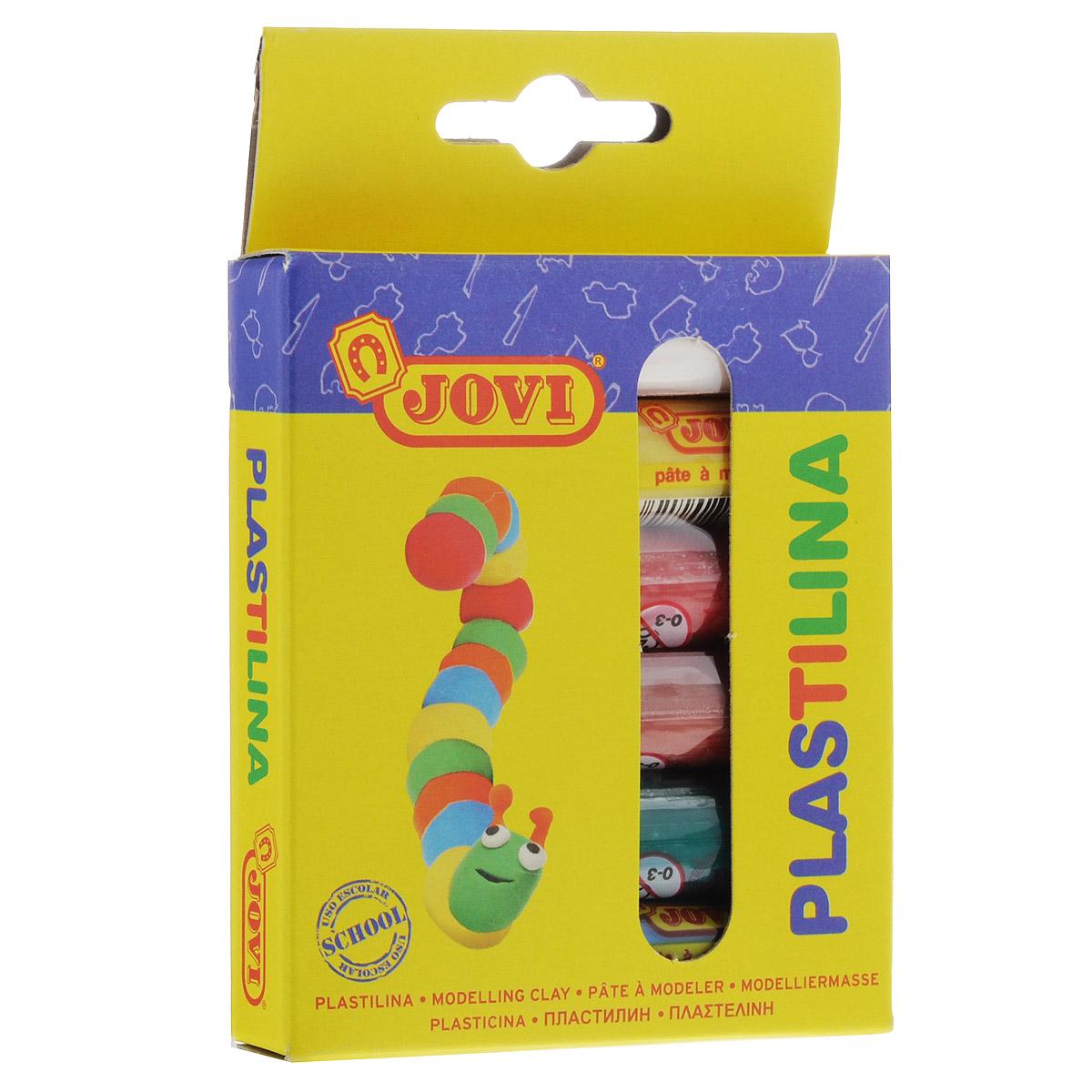 Пластилин Jovi, 6 цветов. 90/685639Пластилин Jovi - это отличная возможность познакомить ребенка с еще одним из видов изобразительного творчества, в котором создаются объемные образы и целые композиции. В набор входит пластилин 6 ярких цветов (белый, желтый, светло-коричневый, красный, голубой, зеленый). Цвета пластилина легко смешиваются между собой, и таким образом можно получить новые оттенки. Пластилин на растительной основе, очень мягкий, имеет яркие, красочные цвета и не липнет к рукам.Техника лепки богата и разнообразна, но при этом доступна даже маленьким детям. Занятие лепкой не только увлекательно, но и полезно для ребенка. Оно способствует развитию творческого и пространственного мышления, восприятия формы, фактуры, цвета и веса, развивает воображение и мелкую моторику.