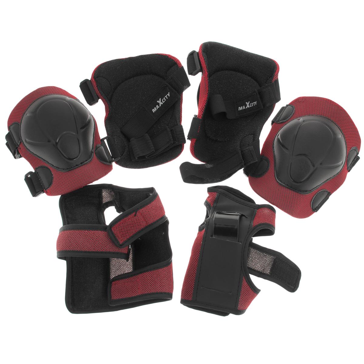 """Набор детской тройной роликовой защиты MaxCity """"Color"""" как нельзя лучше подойдет вашему ребенку. Он состоит из налокотников, наколенников и защиты запястий. Каждый из этих элементов выполнен из качественных материалов, жестких снаружи и эластичных внутри. Это обеспечивает превосходную степень защиты при возможном падении и комфорт при ношении, так как материал принимает форму руки или ноги."""