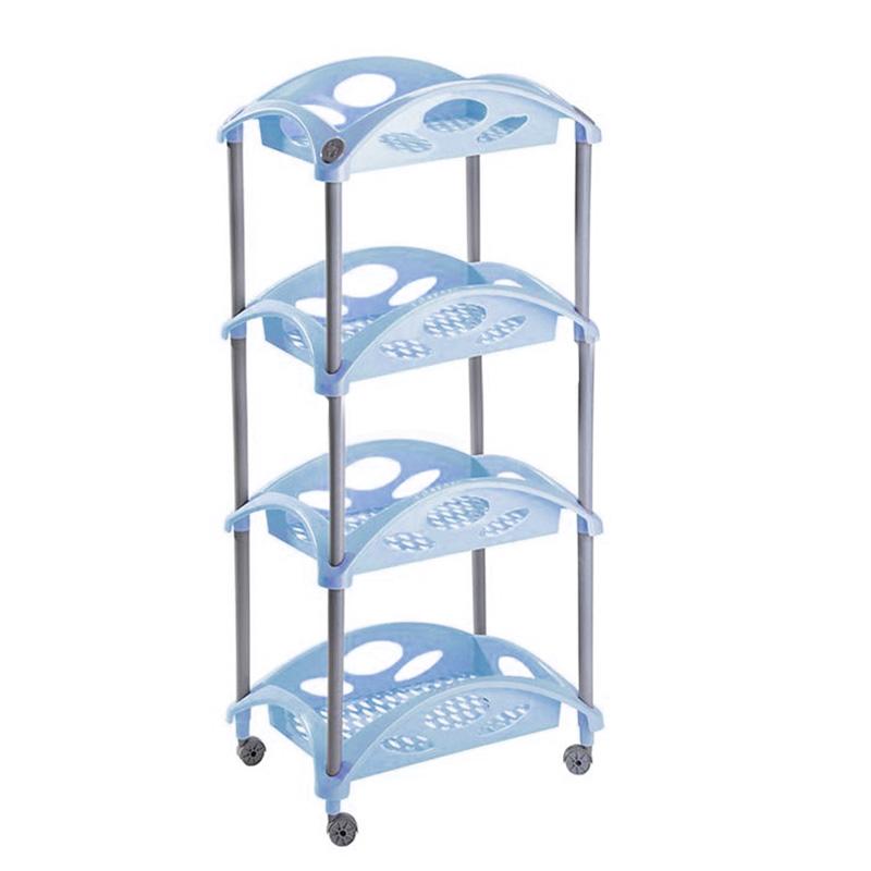 Этажерка Бытпласт Грация, 4-х секционная, цвет: голубой, 44 см х 30,7 см х 99 смМ2548Этажерка Бытпласт Грация выполнена из высококачественного прочного пластика и предназначена для хранения различных предметов. Изделие имеет 4 полки прямоугольной формы с перфорированными стенками. В ванной комнате вы можете использовать этажерку для хранения шампуней, гелей, жидкого мыла, стиральных порошков, полотенец и т.д. Ручной инструмент и детали в вашем гараже всегда будут под рукой. Удобно ставить банки с краской, бутылки с растворителем. В гостиной этажерка позволит удобно хранить под рукой книги, журналы, газеты. С помощью этажерки также легко навести порядок в детской, она позволит удобно и компактно хранить игрушки, письменные принадлежности и учебники. Этажерка - это идеальное решение для любого помещения. Она поможет поддерживать чистоту, компактно организовать пространство и хранить вещи в порядке, а стильный дизайн сделает этажерку ярким украшением интерьера.Размер этажерки (ДхШхВ): 44 см х 30,7 см х 99 см. Размер полки (ДхШхВ): 44 см х 30,7 см х 9,5 см.