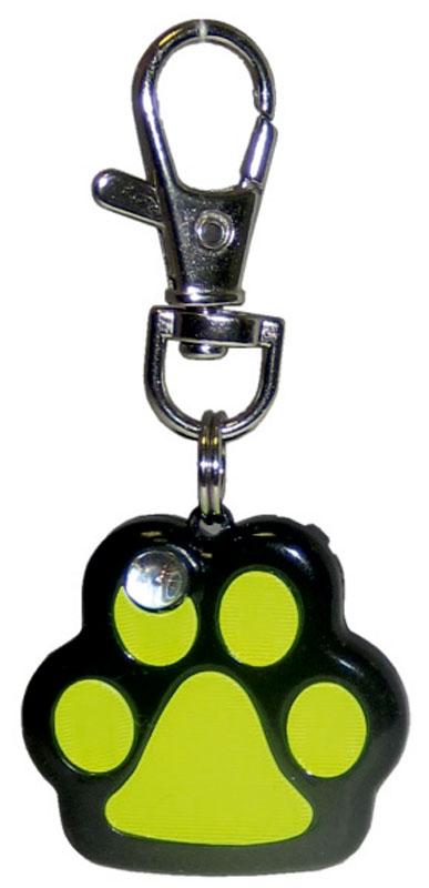 Маячок на ошейник V.I.Pet Лапка, мигающий, цвет: черный, желтый0120710Маячок на ошейник V.I.Pet Лапка, изготовленный из высокопрочного металла и пластика, предназначен для выгула животных в темное время суток. Маячок оснащен светоотражателем и карабином, обеспечивающим легкое и надежное крепление к ошейнику. Световой маячок хорошо виден в темноте, обеспечивает безопасность и позволяет видеть передвижение вашего питомца. Маячок имеет 7 цветов. Маячок работает от батареек, которые входят в комплект.