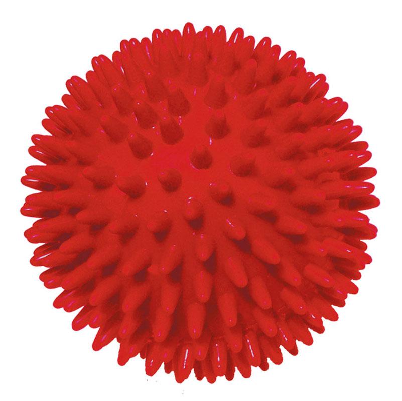 Игрушка для собак V.I.Pet Массажный мяч, цвет: красный, диаметр 8 см0120710Игрушка для собак V.I.Pet Массажный мяч, изготовленная из ПВХ, предназначена для массажа и самомассажа рефлексогенных зон. Она имеет мягкие закругленные массажные шипы, эффективно массирующие и не травмирующие кожу. Игрушка не позволит скучать вашему питомцу ни дома, ни на улице.Диаметр: 8 см.