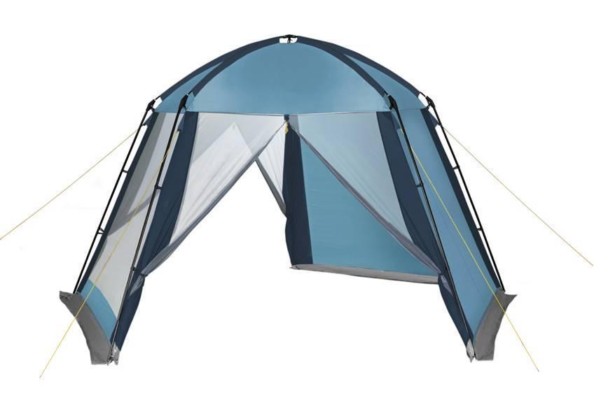 Шатер-тент TREK PLANET Weekend Dome, пятиугольной формы, цвет: синий, голубой, 395 х 410 х 215 см70260Универсальный шатер пятиугольной формы TREK PLANET Weekend Dome с огромным внутренним помещением, отлично подойдет для дачи в качестве беседки. Незаменим при длительном кемпинга и на природе для организации столовой зоны.Две стороны из полиэстера надежно защищают от ветра и дождя, три другие стороны из москитной сетки позволяют шатру отлично проветриваться, и защищают от насекомых.Особенности:Устойчив на ветру,Легко собирается и разбирается,Две стороны шатра из полиэстера, с пропиткой PU надежно защищают от ветра и дождя,Три другие стороны из москитной сетки позволяют шатру отлично проветриваться, защищая от насекомых,Все швы проклеены,Двери из москитной сетки в полный размер стороны с молнией по центру,Каркас: боковые стойки из стали, потолочные дуги из прочного стеклопластика,Прочные и удобные адаптеры для дуг со стойками,Два входа в шатер,Защитным полог по всему периметру защищает от ветра, дождя и насекомых,Возможность подвески фонаря в палатке,Водостойкость 2000 мм.