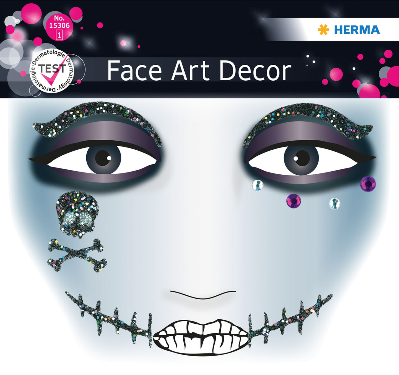 "Наклейки на лицо Face Art ""Pirat"", Herma"