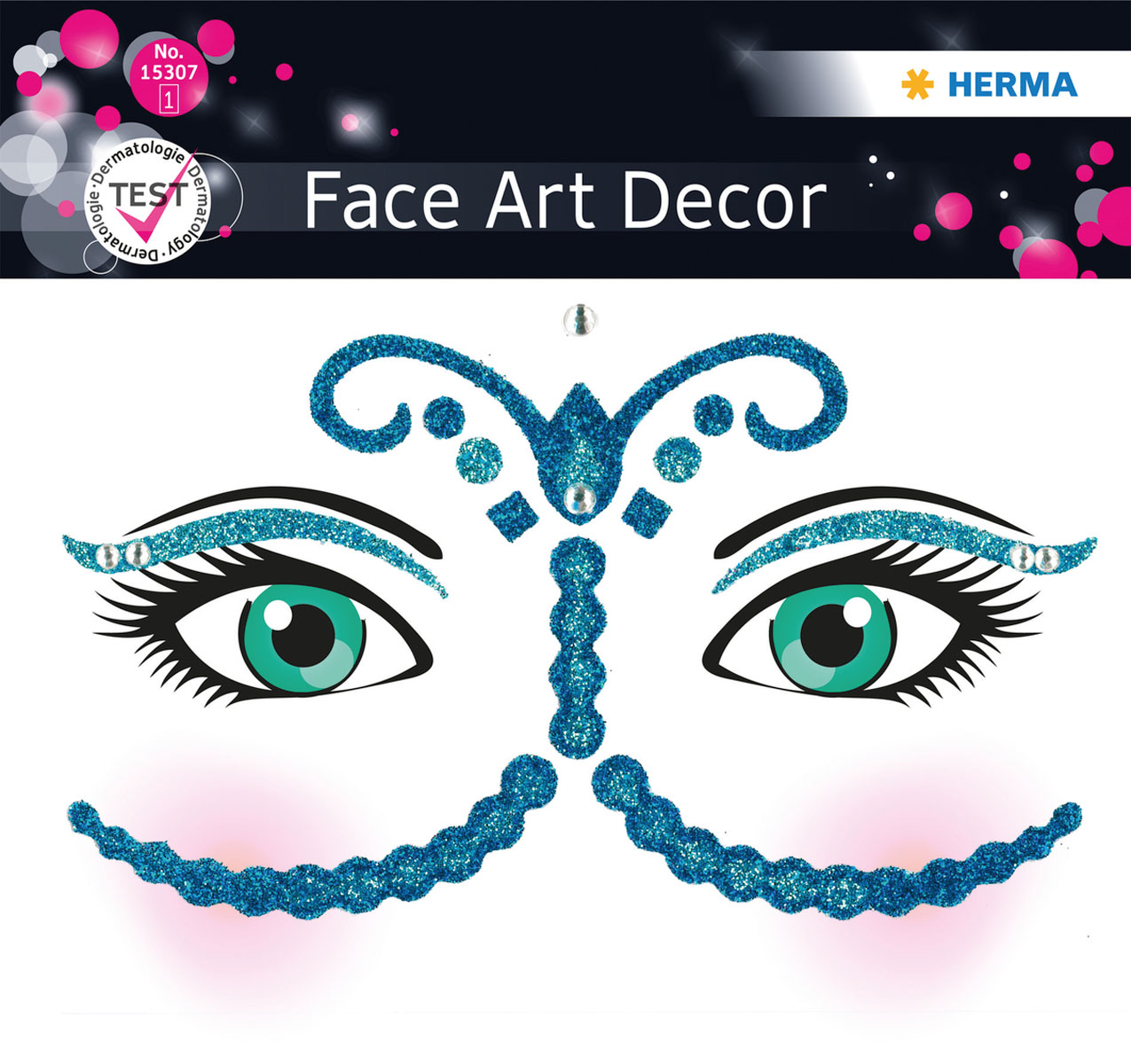 "Наклейки на лицо Face Art ""Bollywood"", Herma"