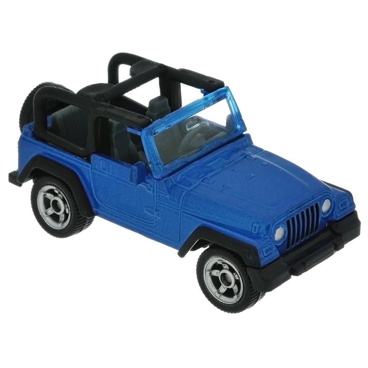 """Коллекционная модель Siku """"Jeep Wrangler"""" представляет собой точную уменьшенную копию джипа. Такая модель понравится не только ребенку, но и взрослому коллекционеру, и приятно удивит вас высочайшим качеством исполнения. Модель выполнена из металла с элементами из пластика; прорезиненные колеса крутятся. Отличный подарок для любителей автомобилей!"""