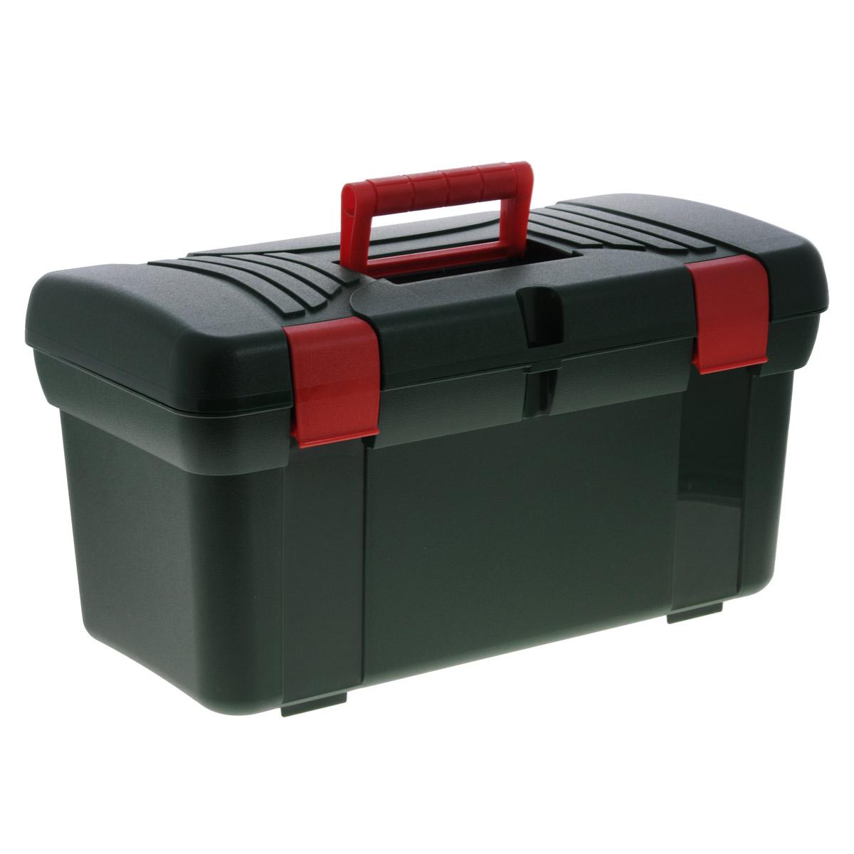 Ящик Универсал, 50 х 26 х 27 смБрелок для ключейЯщик Универсал выполнен из прочного пластика и предназначен для хранения инструментов и других бытовых мелочей. Изделие оснащено ручкой для удобной переноски. В комплект входит съемный лоток с ручкой. Крышка плотно закрывается на две защелки. Ящик Универсал будет незаменим в хозяйстве. Размер ящика: 50 см х 26 см х 27 см. Размер лотка: 48,5 см х 23 см х 7 см.
