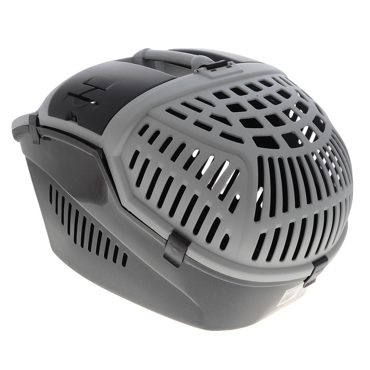 Переноска для животных MPS Avior, цвет: серый, 57,5 см х 39,5 см х 40,5 см0120710Переноска MPS Avior, выполненная из высококачественного пластика, прекрасно подойдет для транспортировки кошек и собак. Крышка и стенки переноски оснащены отверстиями для вентиляции. Прочная ручка обеспечивает большую безопасность при переноске. Крышка надежно крепится к корпусу при помощи защелок. Переноска может полностью открываться с двух сторон в вертикальном положении.Если Вы захотите успокоить Вашего питомца или угостить его лакомством, Вы можете просто открыть небольшой люк в верхней части переноски и просунуть внутрь руку.Кроме того, имеется небольшое отделение, где вы можете хранить воду, поводок или корм. а так же имеются отверстия для ремней безопасности для удобства перевоза любимца в машине.Размеры переноски: 57,5 см х 39,5 см х 40,5 см.