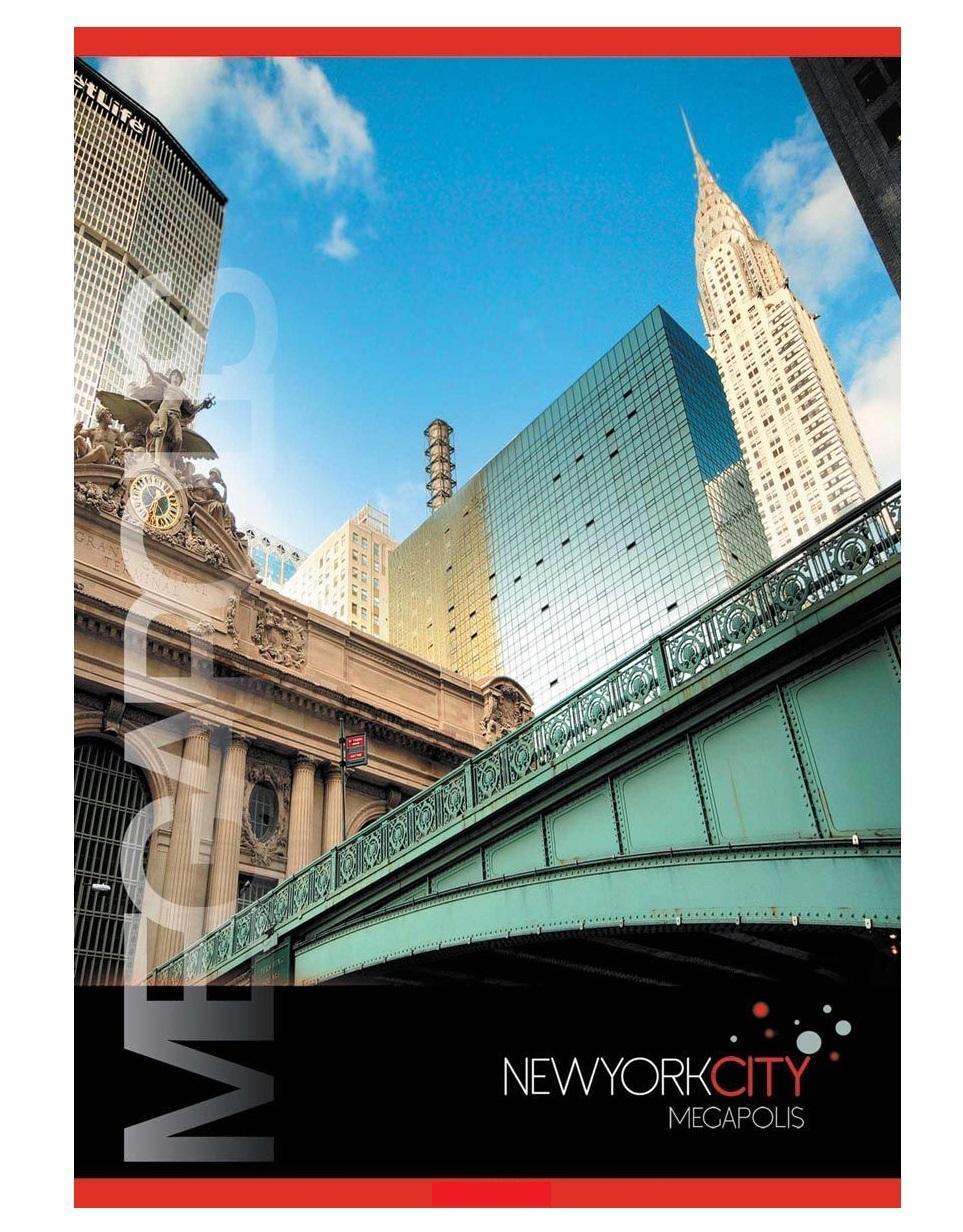 ACTION! Тетрадь Нью-Йорк Мост в клетку 80 листов72523WDТетрадь на 80 листовсделана из высококачественного мелованного картона. Оригинальная цветовая роскраска. Отличное сочетание цены и качества - именно то что вам нужно.