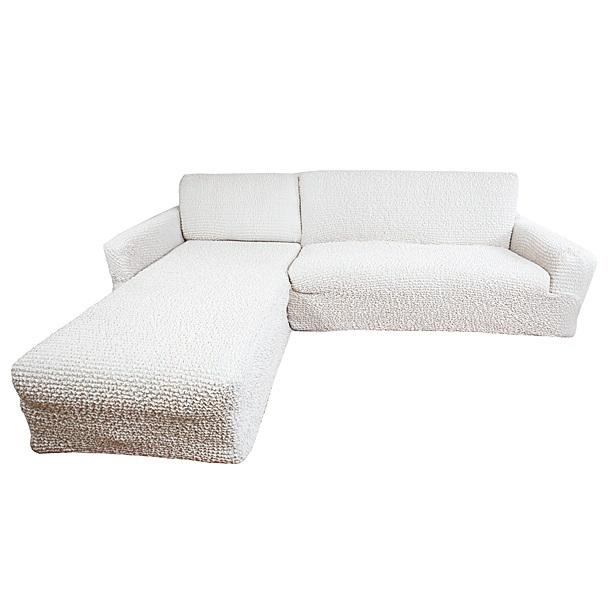 """Чехол на угловой диван Еврочехол """"Микрофибра"""", левый угол, цвет: ваниль"""