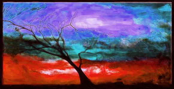 Картина Композиция с деревом №2, смешанная техника, холст, подрамник, жикле, акрил, 90х45 см, автор Светлана Сергеева1567Картина Композиция с деревом №2 построена на контрасте, ярких пятнах. Современный стильный пейзаж с деревом. Яркая работа на холсте с прописью акриловыми красками и галерейной натяжкой на подрамник. Она придется по душе тем, кто хочет что-то необычное, но не готов совсем отказаться от конкретных образов природы. холст, акрил, деревянный подрамник Внимание!!! Так как это ручная работа, рисунок может слегка отличаться от представленного на фото образца.